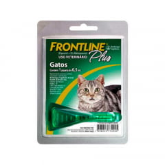 ANTIPULGAS E CARRAPATOS FRONTLINE GATOS  (1 A 10 KG) PIPETA